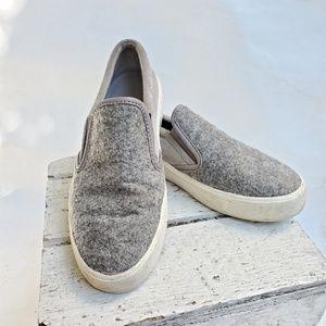 Vince wool top slip on platform shoes size…